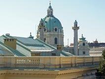 Toits célèbres de Vienne image libre de droits
