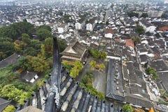Toits d'antenne de la Chine Suzhou Images stock