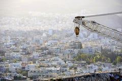 Toits d'Athenes Image libre de droits