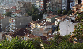 Toits d'Istanbul. photo libre de droits