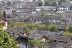 Toits dans la vieille ville chinoise Images stock