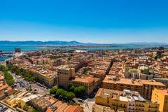 Toits de Cagliari dans Sardegna Photographie stock libre de droits