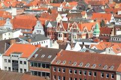 Toits de Lübeck Image libre de droits