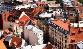 Toits de la vieille ville Photos libres de droits