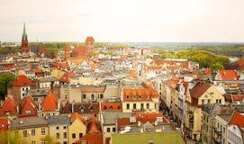 Toits de la vieille ville l'europe Photo stock