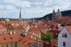 Toits de Lesser Town, Prague, République Tchèque Images libres de droits