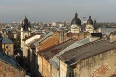Toits de Lviv Photographie stock libre de droits
