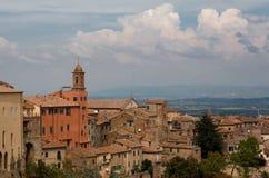 Toits de Montepulciano Images libres de droits