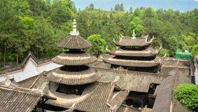 Toits de palais dans la ville antique impériale d'Enshi Tusi dans Hubei Chine photos stock