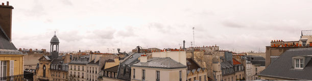 Toits de Paris Photo libre de droits