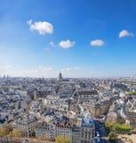 Toits de Paris et de Panthéon, un tir aérien, l'espace des textes Photographie stock