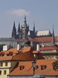 Toits de Prague Photo stock