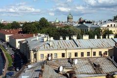 Toits de St Petersburg image libre de droits