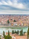 Toits de Vérone en Italie Photo libre de droits