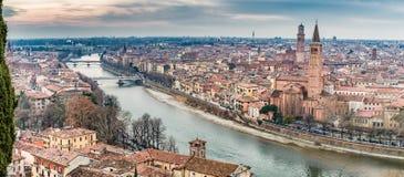 Toits de Vérone en Italie Photo stock