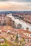 Toits de Vérone en Italie Images libres de droits
