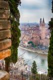 Toits de Vérone en Italie Photos stock
