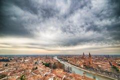 Toits de Vérone en Italie Images stock