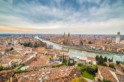 Toits de Vérone en Italie Photographie stock