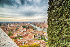 Toits de Vérone en Italie Image libre de droits