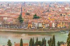 Toits de Vérone en Italie Photos libres de droits