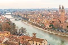Toits de Vérone en Italie Image stock