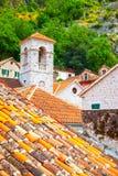 Toits de vieille ville de Kotor Image libre de droits