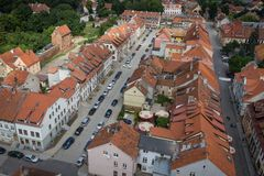 Toits de vieille ville de Reszel image libre de droits