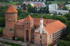 Toits de vieille ville de Reszel photographie stock libre de droits