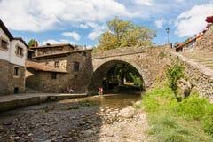 Toits de village de potes, Espagne Photographie stock
