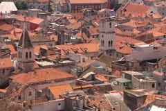 Toits de ville croate Photos libres de droits