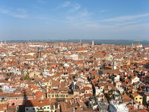 Toits de ville de Venise image libre de droits