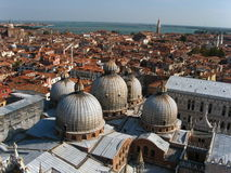Toits de ville de Venise Photo libre de droits