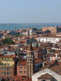 Toits de ville de Venise Photo stock