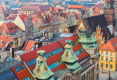 Toits de Wroclaw image stock