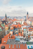 Toits de Wroclaw photos libres de droits
