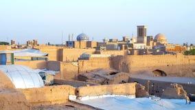Toits de Yazd banque de vidéos