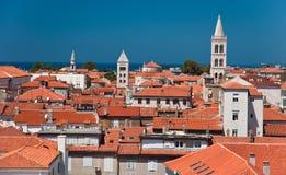 Toits de Zadar Images libres de droits