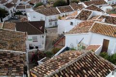 Toits de Zahara de la Sierra en Andalousie Royalty Free Stock Image