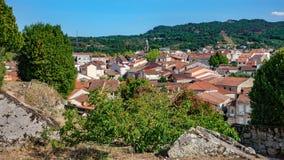Toits galiciens d'Allariz de village Photographie stock