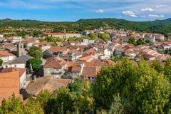 Toits galiciens d'Allariz de village Images libres de droits