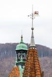 Toits pointus de château de Shenborn, Ukraine photographie stock