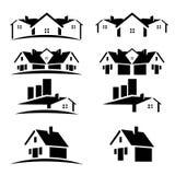 toits réglés pour l'entreprise immobilière Photos libres de droits