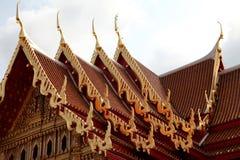 Toits thaïs de temple image libre de droits