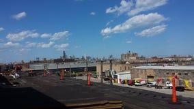 Toiture plate commerciale, Chicago images libres de droits