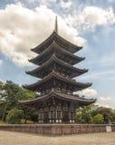Toji塔在京都,日本。 免版税库存图片