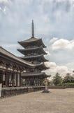 Toji塔在京都,日本。 库存图片