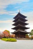 Toji świątynia w Kyoto, Japonia Obraz Royalty Free