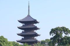 Toji świątynny Kyoto Japonia fotografia royalty free