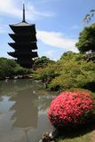 Toji Buddhist tower Stock Image